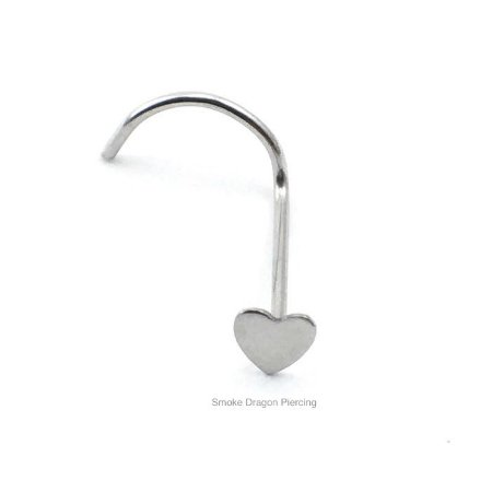 Piercing  - Nostril Nariz - Aço Cirúrgico - Coração de aço Cirúrgico sem pedra