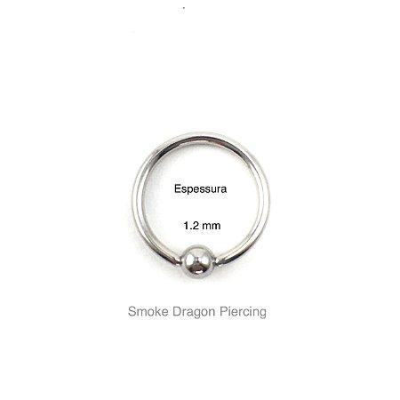 Piercing - Captive  - Argola - Aço Cirúrgico - Espessura 1.2 mm