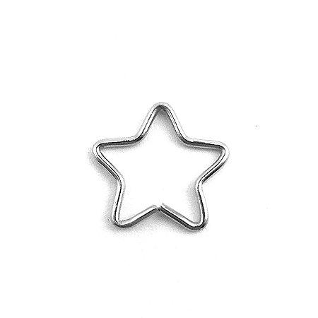 Piercing - Estrela  - Aço Cirúrgico - Espessura 0.8 mm