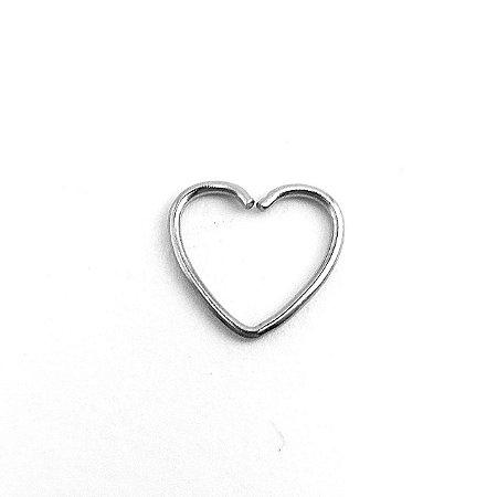 Piercing - Coração - Aço Cirúrgico - Espessura 0.8 mm