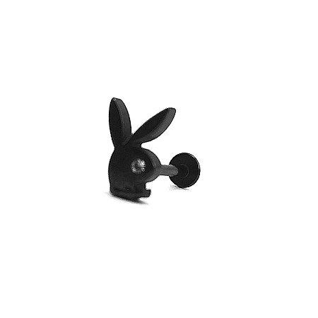 Piercing - Labret - Playboy - Aço Cirúrgico - Anodizado - Espessura 1.2 mm