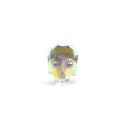 Piercing - Microbell Reto - Caveira - Furtacor - Aço Cirúrgico - Espessura 1.2 mm