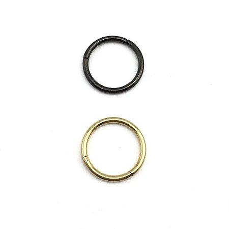 Piercing - Argola - Segmentada -  Articulada - Clicker - Aço Cirúrgico - PVD - Espessura 1.2 mm