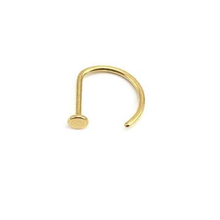 Piercing - Open Nose D Ring - Nariz - Titânio - Gold PVD 24K - Espessura 0.8mm