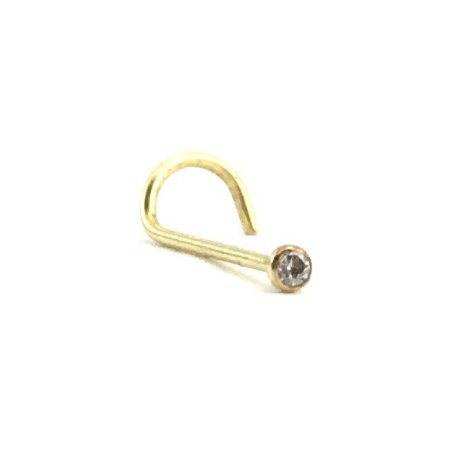 Piercing - Nostril - Nariz - Zircônia - Ouro 18K - Espessura 0.6mm