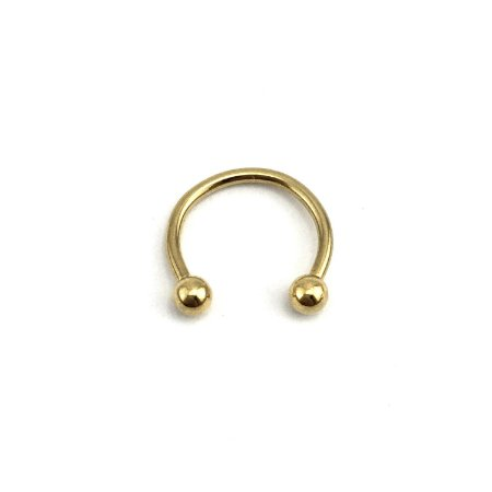 Piercing - Ferradura - Aço Cirúrgico - Folheado - Dourado - Espessura 1.2mm