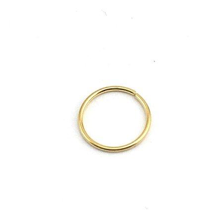 Piercing - Argola - Nariz - Aço Cirúrgico - Folheado - Dourado - Espessura 0.6mm