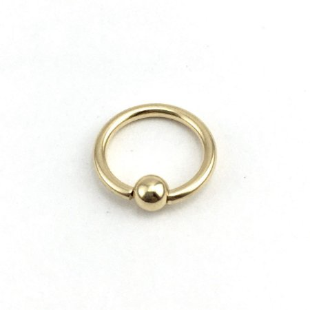 Piercing - Captive - Aço Cirúrgico - Banhado - Dourado - Espessura 1.2mm