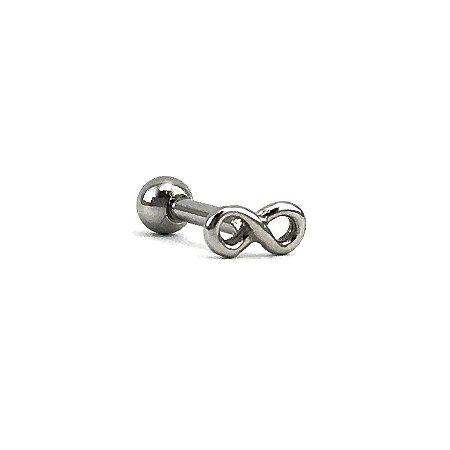 Piercing - Microbell Reto - Infinito - Aço Cirúrgico - Espessura 1.2mm