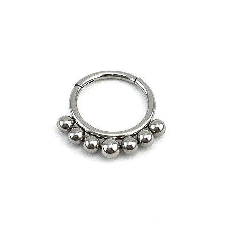Piercing - Argola - Segmentada -  Articulada - Clicker - Septo - Aço Cirúrgico - Espessura 1.2 mm
