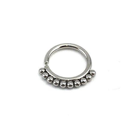 Piercing/Aço/Argola/Septo/Segmentada /Articulada/1.2*8 mm