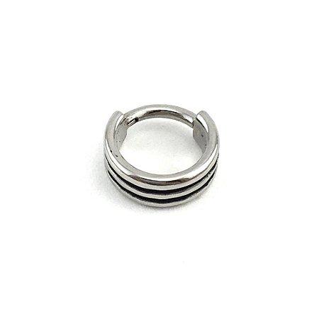 Piercing - Argola - Segmentada -  Articulada - Clicker - Helix - Aço Cirúrgico - Espessura 1.2 mm