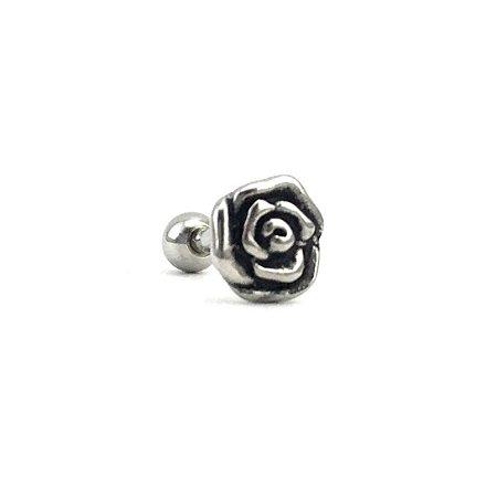 Piercing -Microbell Reto - Flor - Aço Cirúrgico - Espessura 1.2 mm