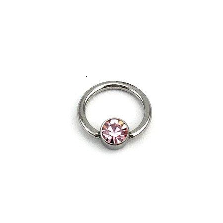 Piercing - Captive - Aço Cirúrgico - Cristal Swarovski - Espessura 1.2 mm