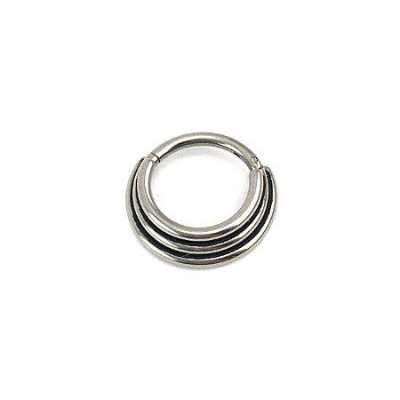 Piercing - Argola - Segmentada -  Articulada - Clicker - Septo - Daith - Titânio - Espessura 1.2 mm