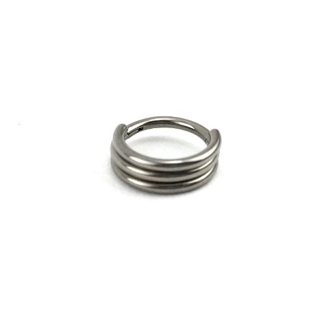 Piercing Titânio - Argola - Segmentada  - Clicker - Hélix  - Espessura 1.2 mm