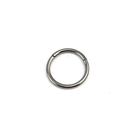 Piercing - Argola - Segmentada -  Articulada - Clicker - Titânio - Espessura 1.2 mm