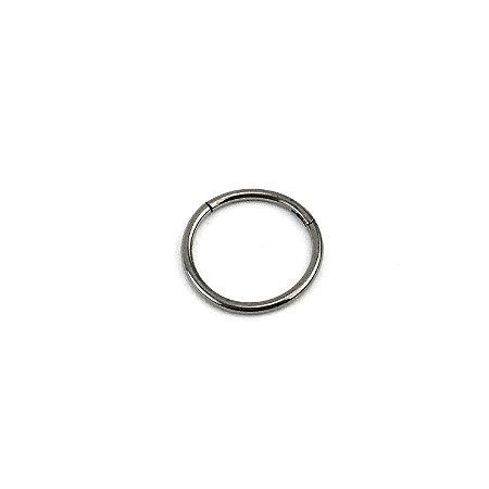 Piercing - Argola - Nariz - Segmentada -  Articulada - Clicker - Titânio - Espessura 0.8 mm