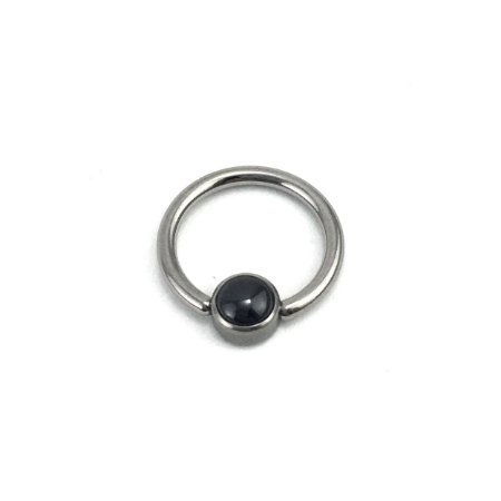 Piercing  Titânio - Captive  - Onix - Ametista - Olho de Tigre - Espessura 1.2 mm