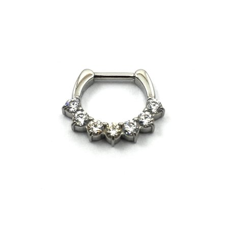 Piercing/Aço/Septo/Clicker/ Zircônia Swarovski/Espessura 1.2 mm