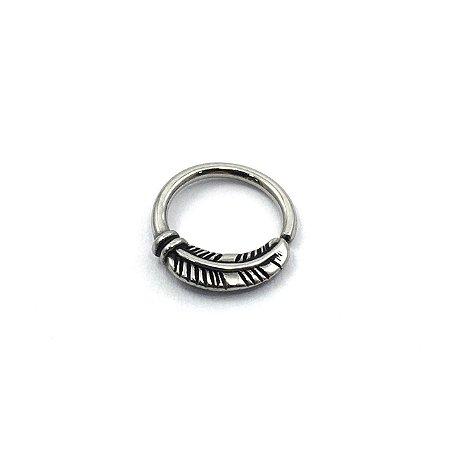 Piercing - Argola - Segmentada -  Articulada - Septo - Pena - Aço Cirúrgico - Espessura 1.2 mm
