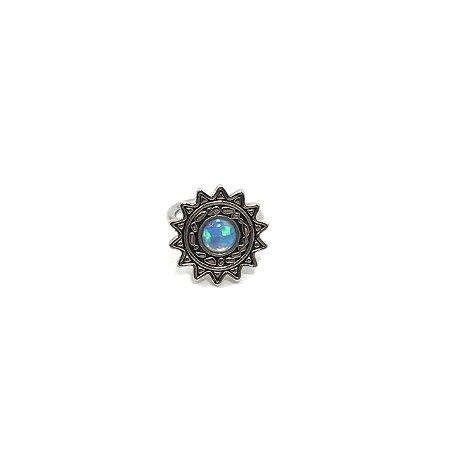 Piercing - Captive - Titânio - Opala Sintética - Espessura 1.2 mm