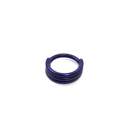 Piercing - Argola - Segmentada -  Articulada - Clicker - Hélix - Titânio - Anodizado - Espessura 1.2 mm