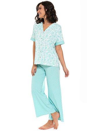 Pijama Estela abotoado manga curta c/ calça