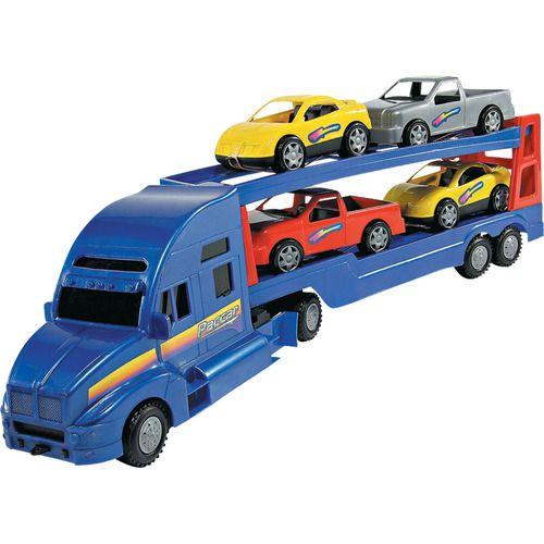Caminhão Cegonha Paccar Azul 2002