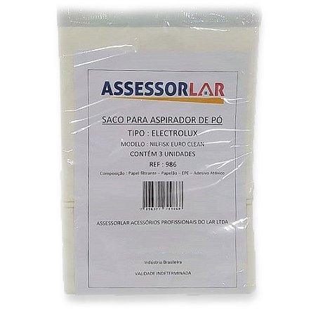 Saco p/ Aspirador Electrolux/Nilfisk Modelo Euro Clean