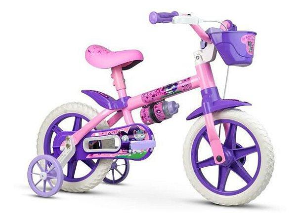 Bicicleta Infantil Rosa Aro 12 Cat 3 A 5 Anos Rodinha Nathor