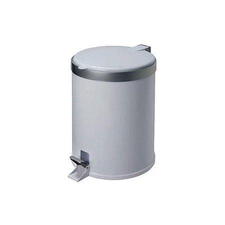 Lixeira 12 Litros Plástico Com pedal Branca - Viel