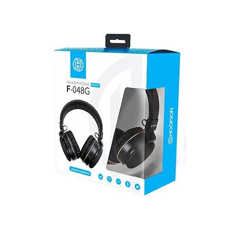 Headphone Bluethooth V5.0 Preto/Dourado - HOOPSON
