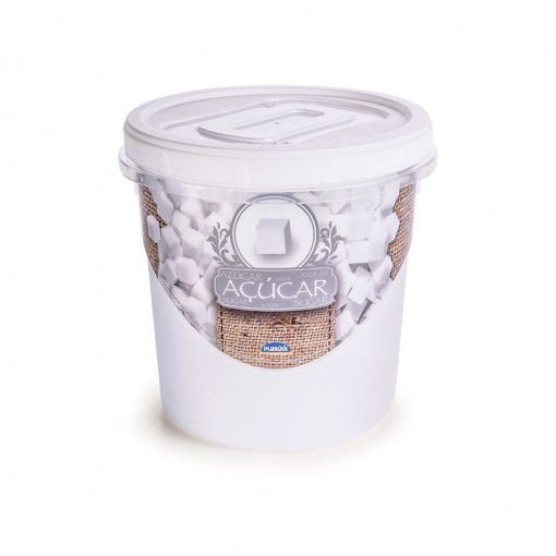 Pote de Plástico Redondo para Açucar Mantimentos 1,8 L Rosca