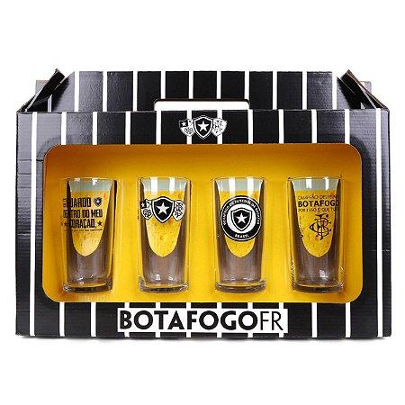 Copo Long Drink 300ml Botafogo C/4 - Allmix