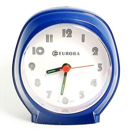 Relógio Despertador Quartz Azul Escuro Tradicional Eurora