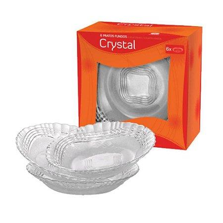 Jogo de Pratos Fundo Crystal 6 Peças - Wheaton
