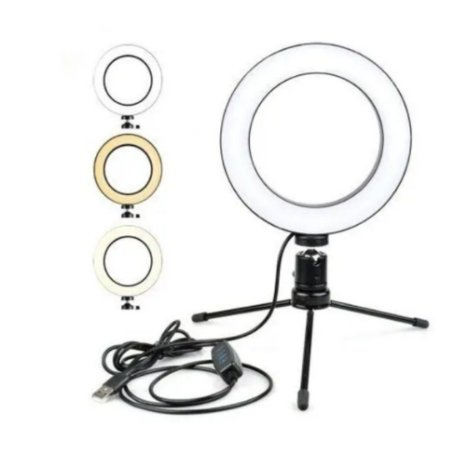 Ring Light 16cm C/ Tripé - Vijodi