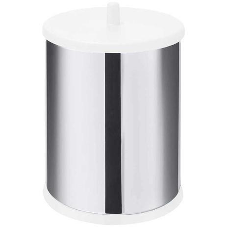 Lixeira para pia de aço inox 9,1 litros branca com tampa - Martinazzo