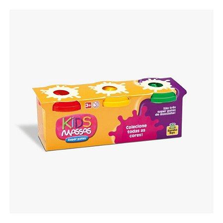 Brinquedo infantil divertido kids massas super potes coloridos - Samba Toys