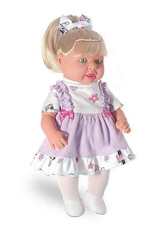 Boneca Marcelle Fala 20 Frases - Milk brinquedos