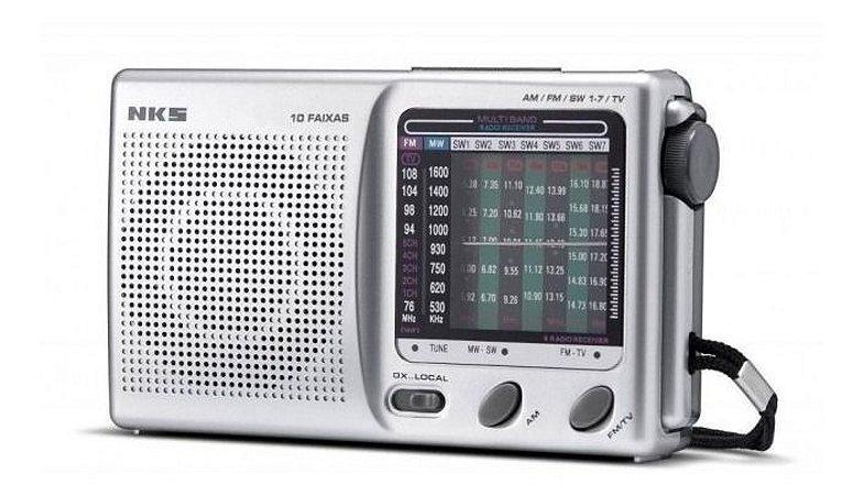 Radio Portatil 10 Faixas Ac 117 Nks