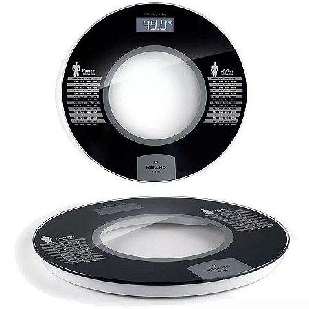 Balança Digital Banheiro Academia 180kg Design Premium Nks milano