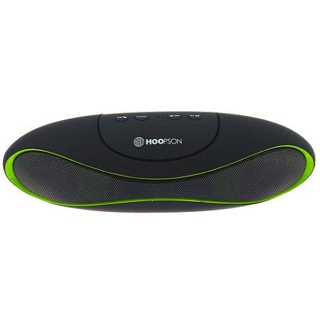 Caixa de Som Portatil Bluetooth Hoopson Preto / Verde