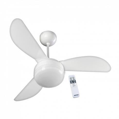 Ventilador de Teto Ventisol Fenix Premium Branco 3 velocidades com Controle Remoto 127V