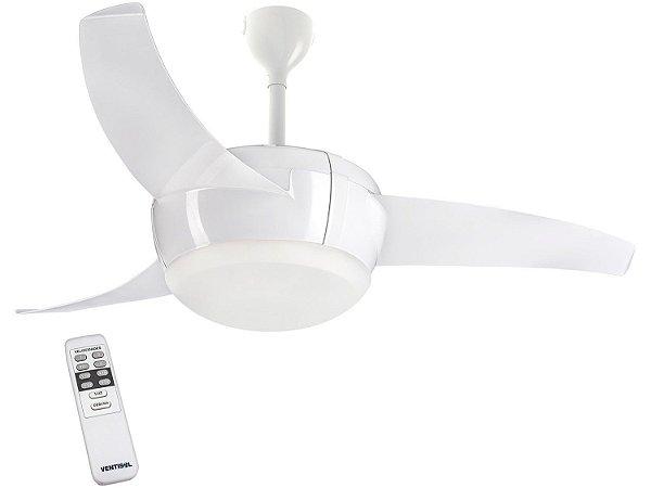 Ventilador de Teto Ventisol Vórtice com Luminária LED e Controle Remoto  – Branco