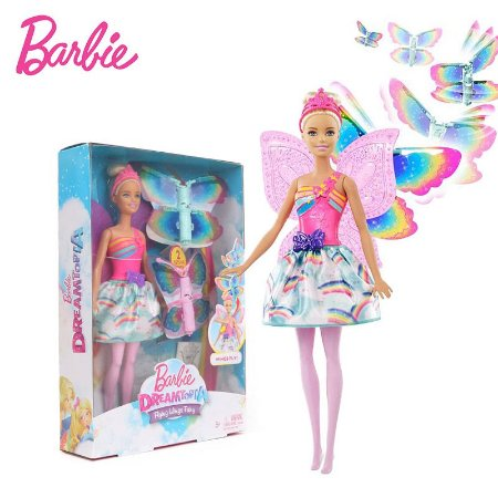 Boneca Barbie Fada Asas Voadoras Dreamtopia Mattel
