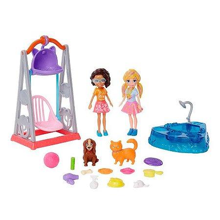 Polly Pocket 2 Figuras Hora de Brincar com Mascotes - Mattel