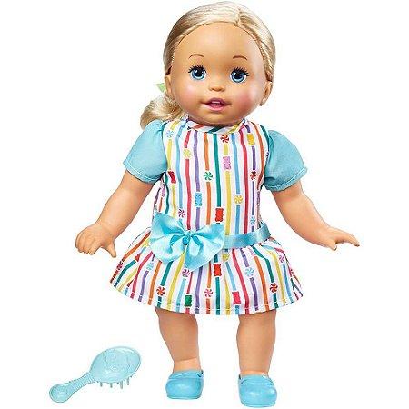 Little Mommy Doce Bebê Loira Vestido Colorido - Mattel
