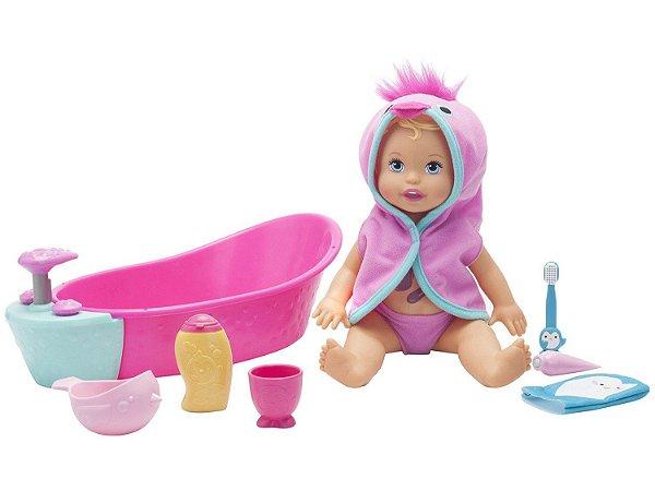 Boneca Little Mommy Mattel Brincadeira Na Banheira